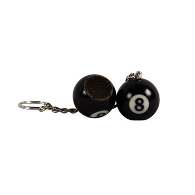 8 Ball Keyring With Tip Rougher