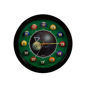 Small 8 Ball Clock - Plastic (Round)